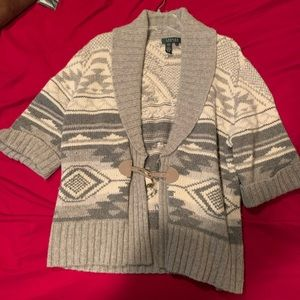 Ralph Lauren Cardigan w/ wool & angora rabbit fur